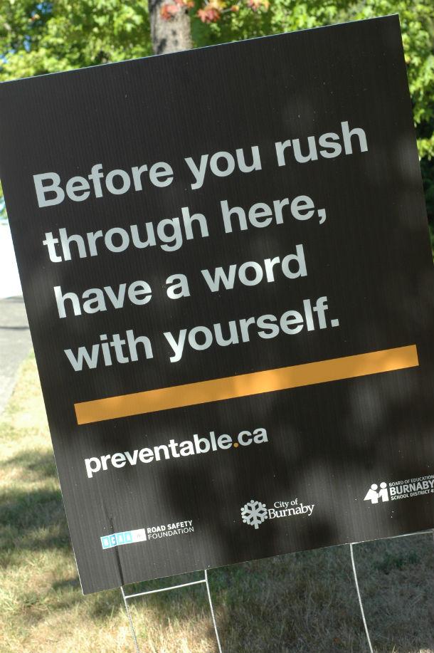 Preventable Campaign Sign